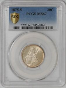 Click now to see the BUY IT NOW Price! 1875 S TWENTY CENT 20C MS67 SECURE PLUS PCGS