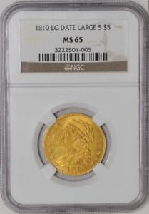 Click now to see the BUY IT NOW Price! 1810 $5 GOLD CAPPED BUST LARGE DATE LARGE 5 MS65 NGC
