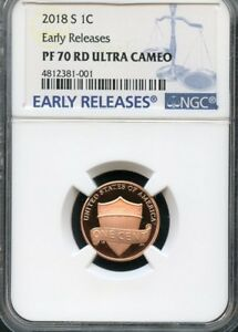 2018 S LINCOLN PENNY EARLY RELEASES NGC PF70 RD ULTRA CAMEO  BLUE