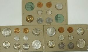 Click now to see the BUY IT NOW Price! 1947 P D S US MINT ORIGINAL NATURALLY TONED COIN SET IN ORIGINAL HOLDERS