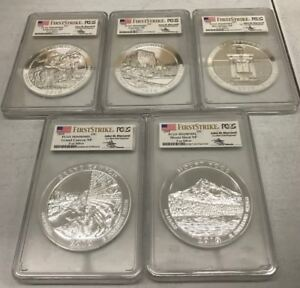 Click now to see the BUY IT NOW Price! 2010 ATB NP 5 OZ SILVER PCGS MS69 DMPL 5 COINS SET FIRST STRIKE MERCANTI