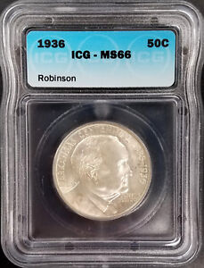 Click now to see the BUY IT NOW Price! 1936 ARKANSAS CENTENNIAL/ROBINSON COMMEMORATIVE HALF DOLLAR GRADED MS 66 BY ICG
