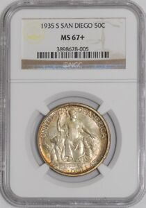 Click now to see the BUY IT NOW Price! 1935 S SAN DIEGO 50C 937755 110 MS67  NGC