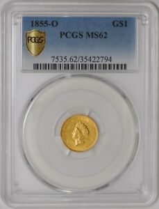 Click now to see the BUY IT NOW Price! 1855 O $ GOLD INDIAN DOLLAR 938422 2 MS62 SECURE PLUS PCGS