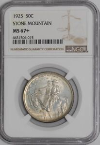 Click now to see the BUY IT NOW Price! 1925 STONE MOUNTAIN 50C 938783 13 MS67  NGC