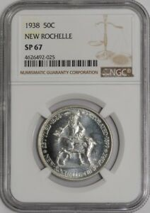 Click now to see the BUY IT NOW Price! 1938 NEW ROCHELLE 50C 938892 1 SP67 NGC