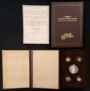 2009 PROOF ABRAHAM LINCOLN COIN AND CHRONICLES SET  5 PROOF COINS