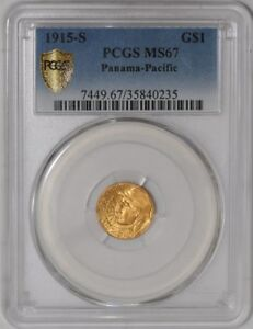 1915 S $ GOLD PANAMA PACIFIC DOLLAR 938899 16 MS67 SECURE PLUS PCGS