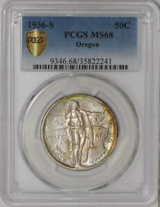 Click now to see the BUY IT NOW Price! 1936 S OREGON 50C 938850 42 MS68 SECURE PLUS PCGS