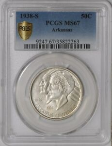 Click now to see the BUY IT NOW Price! 1938 S ARKANSAS 50C 938842 18 MS67 SECURE PLUS PCGS