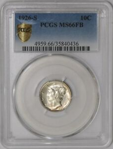Click now to see the BUY IT NOW Price! 1926 S MERCURY DIME 10C 938562 1 MS66 FB SECURE PLUS PCGS