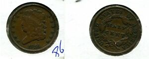 1834 CLASSIC HEAD HALF CENT TYPE COIN  XF  8663J