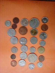 LOT OF 25 FOREIGN COINS  9 COUNTRIES  FUN COLLECTOR STARTER