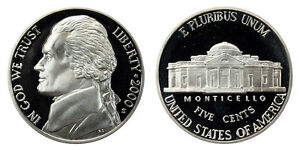 2000 S GEM BU PROOF DCAM JEFFERSON NICKEL BRILLIANT UNCIRCULATED CAMEO COIN PF