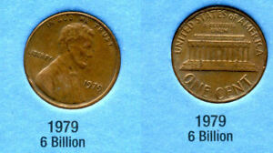 1979 P ABE LINCOLN MEMORIAL AMERICAN PENNY 1 CENT US U.S AMERICA ONE COIN B1