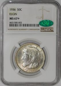 1936 ELGIN 50C 939112 99 MS67  NGC   CAC