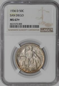Click now to see the BUY IT NOW Price! 1936 D SAN DIEGO 50C 939129 94 MS67  NGC