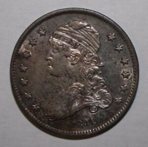 1831 CAPPED BUST QUARTER B 4 VARIETY