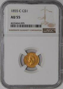 Click now to see the BUY IT NOW Price! 1855 C $ GOLD INDIAN DOLLAR $ 937511 1 AU55 NGC