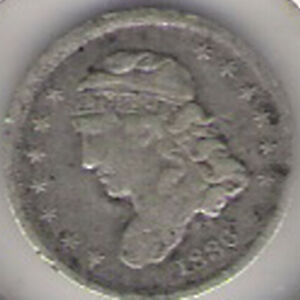 1836 CAPPED BUST HALF DIME  182 YEARS OLD    NICE