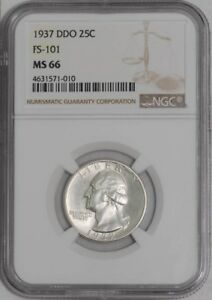 Click now to see the BUY IT NOW Price! 1937 WASHINGTON QUARTER 25C DDO FS 101 939166 2 MS66 NGC