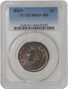 Click now to see the BUY IT NOW Price! 1826/5 LARGE CENT 1C 939413 1 MS63  PCGS
