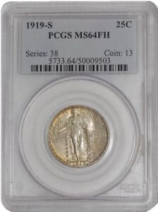 Click now to see the BUY IT NOW Price! 1919 S STANDING LIBERTY QUARTER 25C 939398 40 MS64 FH PCGS