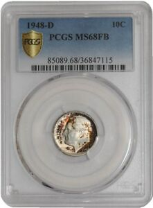 Click now to see the BUY IT NOW Price! 1948 D ROOSEVELT DIME 10C 939166 1 MS68 FB SECURE PLUS PCGS