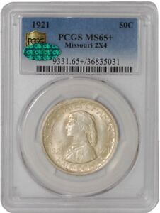 Click now to see the BUY IT NOW Price! 1921 MISSOURI 50C 2X4 939129 67 MS65  SECURE PLUS PCGS   CAC