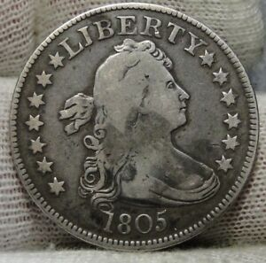 1805 DRAPED BUST QUARTER 25 CENTS    KEY DATE NICE COIN .  7251