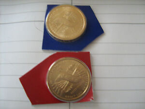 2010 PD SACAGAWEA GOLDEN DOLLARS  2  NICE COINS IN MINT CELLO  AA1