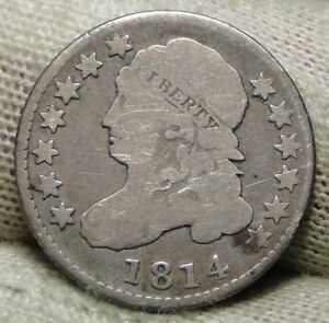 1814 CAPPED BUST DIME 10 CENTS   NICE COIN    6630