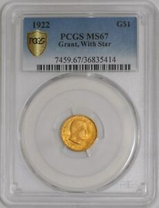 Click now to see the BUY IT NOW Price! 1922 $ GOLD GRANT DOLLAR STAR 938948 10 MS67 SECURE PLUS PCGS