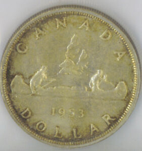Click now to see the BUY IT NOW Price! CANADA 1953 $1 ONE SILVER DOLLAR ICCS CERTIFIED MS 65 QUEEN ELIZABETH II