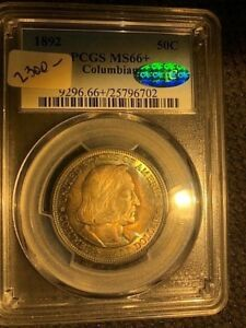 Click now to see the BUY IT NOW Price! 1892 COLUMBIAN EXPO HALF DOLLAR PCGS MS66  CAC