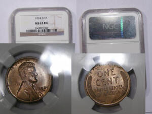 Click now to see the BUY IT NOW Price! 1924 D LINCOLN CENT NGC MS63 BN LOOKS BETTER RED INV340B 1