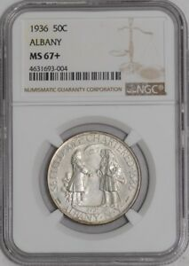 Click now to see the BUY IT NOW Price! 1936 ALBANY 50C 939459 5 MS67  NGC