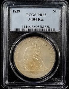 Click now to see the BUY IT NOW Price! 1839 PROOF GOBRECHT DOLLAR J 104 RESTRIKE GRADED PR 62 BY PCGS