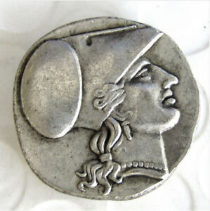 COIN ANCIENT GREEK SILVER CORINTH STATER COIN FROM SYRACUSE   304 BC COINS