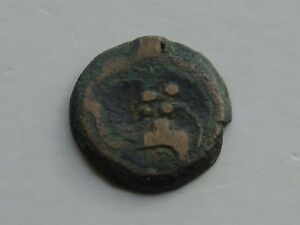 UNIDENTIFIED ROMAN? AE BRONZE COIN 16MM 2.85G