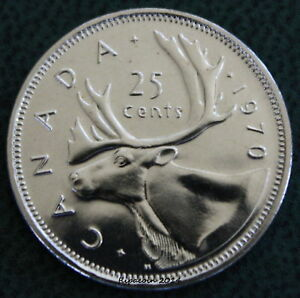 1970 CANADIAN QUARTER 25 CENT COIN PROOF LIKE MINT SEALED LOW MINTAGE
