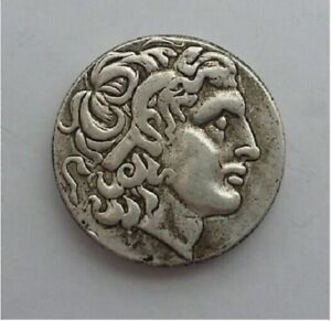 ANCIENT ALEXANDER III THE GREAT 336 323 BC SILVER DRACHM GREEK COIN SILVER