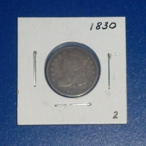 1830 10C U S CAPPED BUST DIME   2