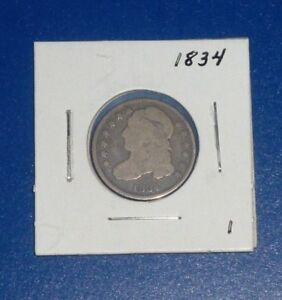 1834 10C U S CAPPED BUST DIME   1