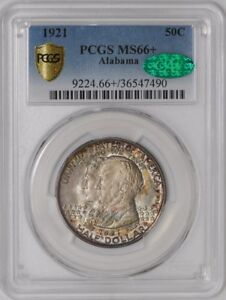 Click now to see the BUY IT NOW Price! 1921 ALABAMA 50C 939107 23 MS66  SECURE PLUS PCGS   CAC