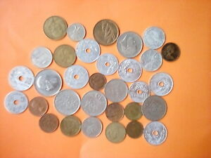 LOT OF 30 FOREIGN COINS  8 COUNTRIES  FUN COLLECTOR STARTER