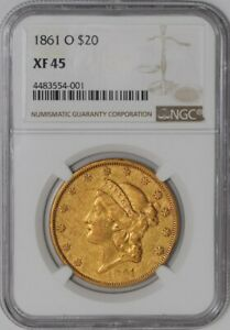 Click now to see the BUY IT NOW Price! 1861 O $20 GOLD LIBERTY 941324 1 XF45 NGC