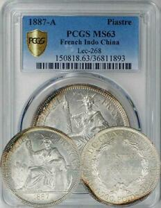 Click now to see the BUY IT NOW Price! FRENCH INDOCHINA 1887 A PIASTRE PCGS MS 63   ONLY 3 COINS GRADED HIGHER