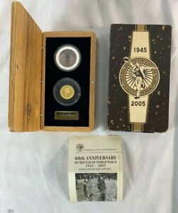 Click now to see the BUY IT NOW Price! 2005 PERTH MINT GOLD & SILVER 60TH ANNIVERSARY OF THE END OF WWII COIN SET COA