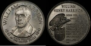 Click now to see the BUY IT NOW Price! WILLIAM HARRISON PRESIDENCY COMMEMORATIVE  FRANKLIN MINT  STERLING SILVER